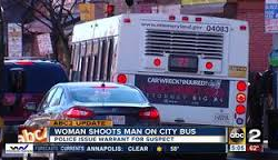 Woman shoots man on MTA bus in South Baltimore