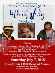 Smooth Jazz & R&B, July 7, 2018